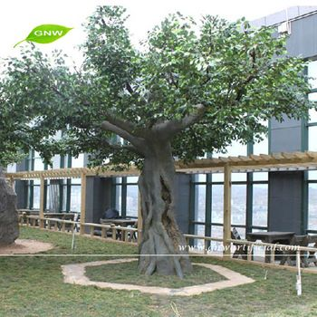 Gnw Btr046 High Similation Giant Faux Plastic Banyan Tree For Office Decoration Trees To Plant Ficus Plants