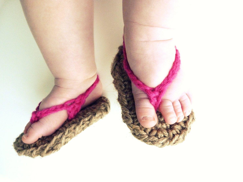 Baby flip flops nugget pinterest crochet baby shoes crochet baby flip flops bankloansurffo Image collections
