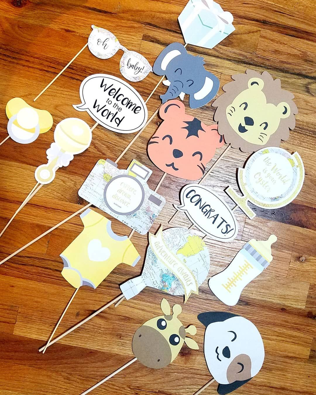 Look At These Cute Baby Shower Photo Booth Props I Made For My Best Friend S B Baby Shower Photo Booth Props Baby Shower Cards Handmade Baby Shower Photo Booth