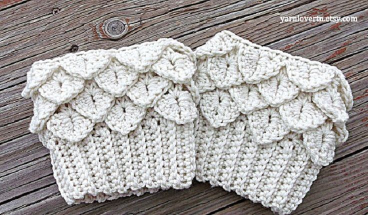 Top 10 Beautiful and Warm Free Boot Cuff Crochet Patterns | Tejido ...