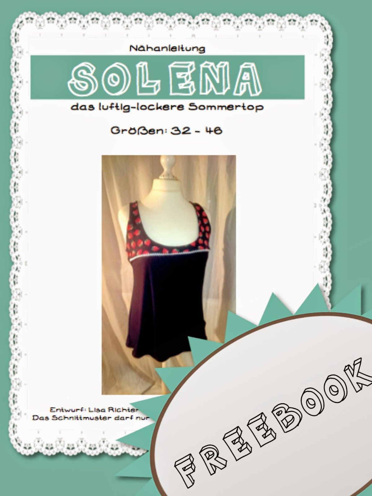 LeoLilie: Freebook Sommertop Solena | rock a mini | Pinterest | 50er ...