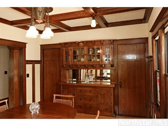 1913 Bungalow Dining Room Built In Buffet Minneapolis MN