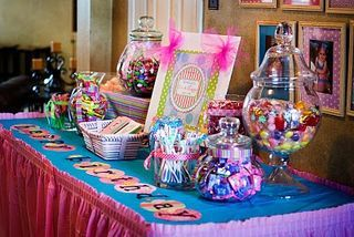 cute idea to give out toothbrushes at the candy table
