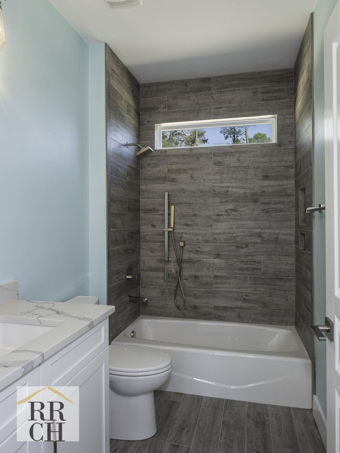 Cucina Amorosa Warehouse Import Shower Walls In American Olean Creek Wood Tile In Ash River Color