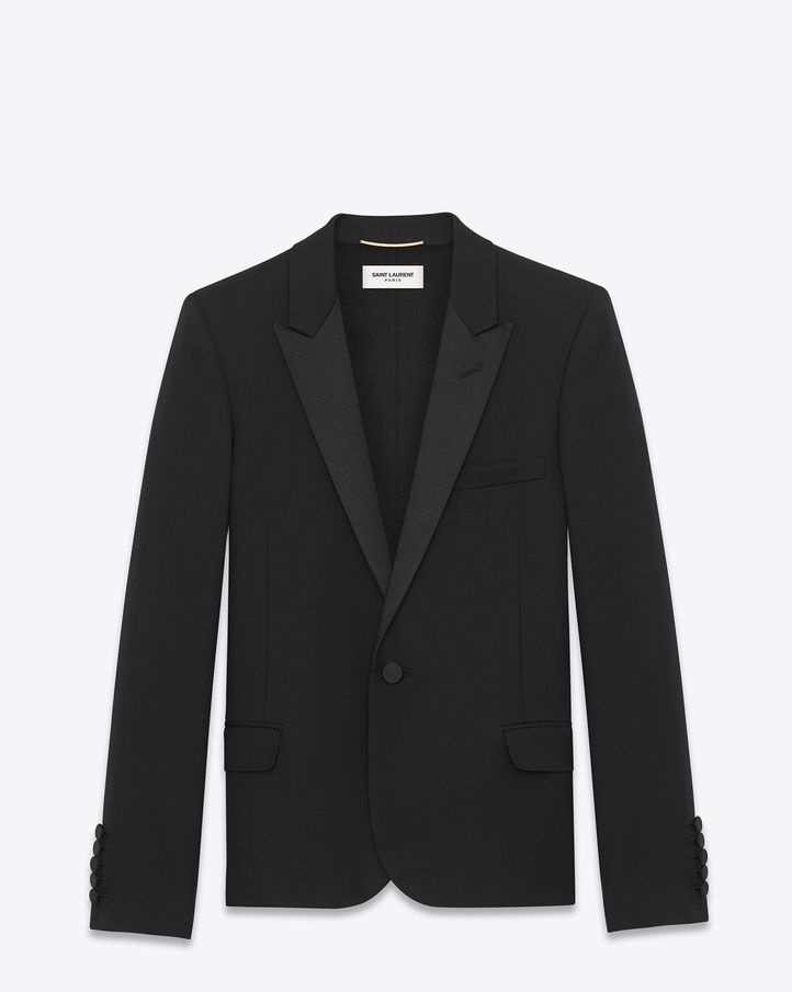 Saint Laurent Iconic Le Smoking Cropped Blazer Low Cost Online Free Shipping Footaction Sale Order Eastbay Store For Sale P2WzDt