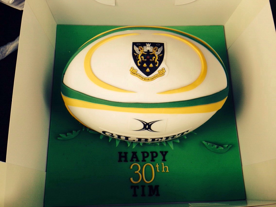Northampton Saints Rugby Ball Replica Cake Rugby Cake Tom Cake Northampton Saints