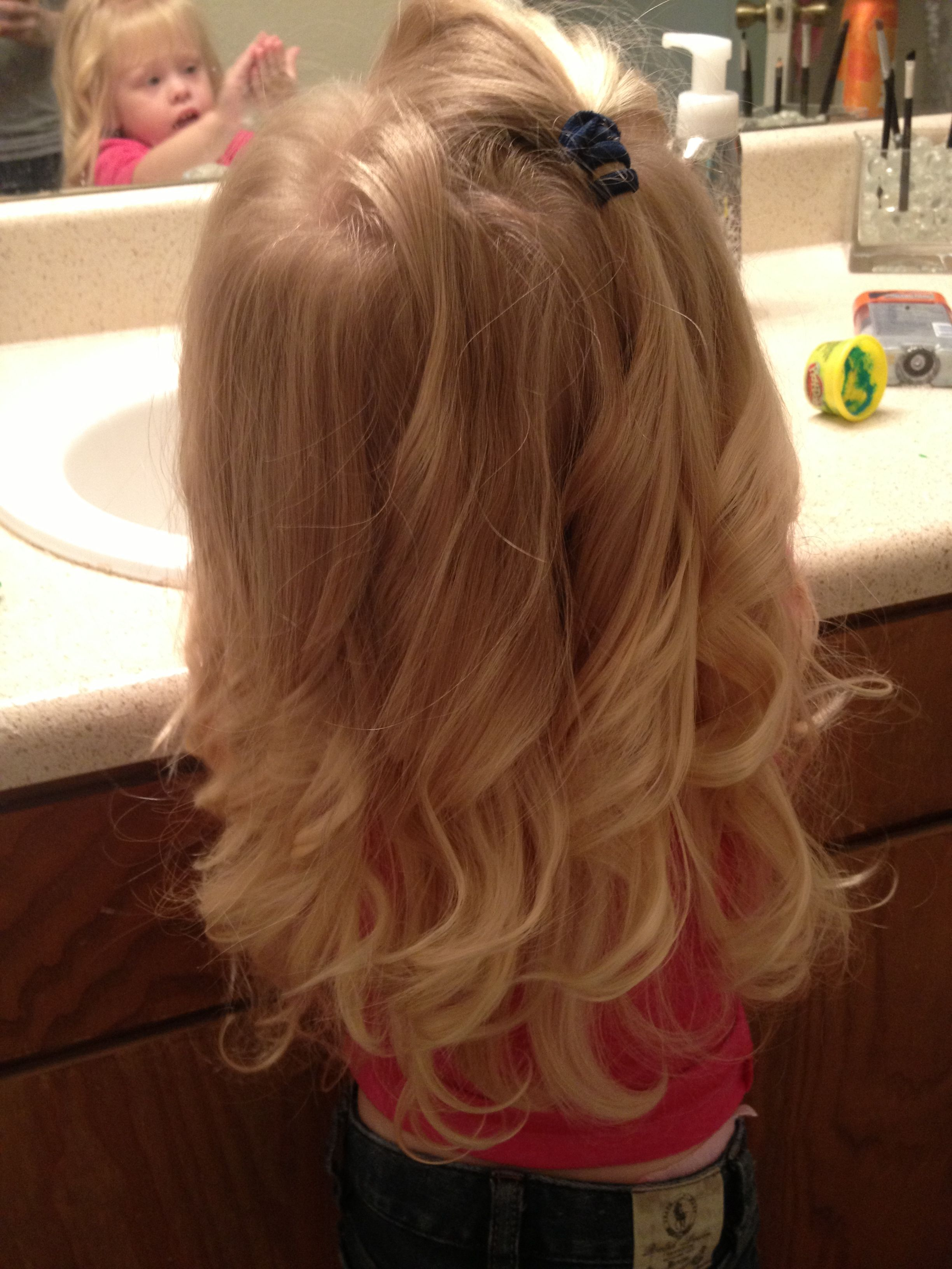 Wavy Toddler Hair With Curling Wand Holy Crap This Is