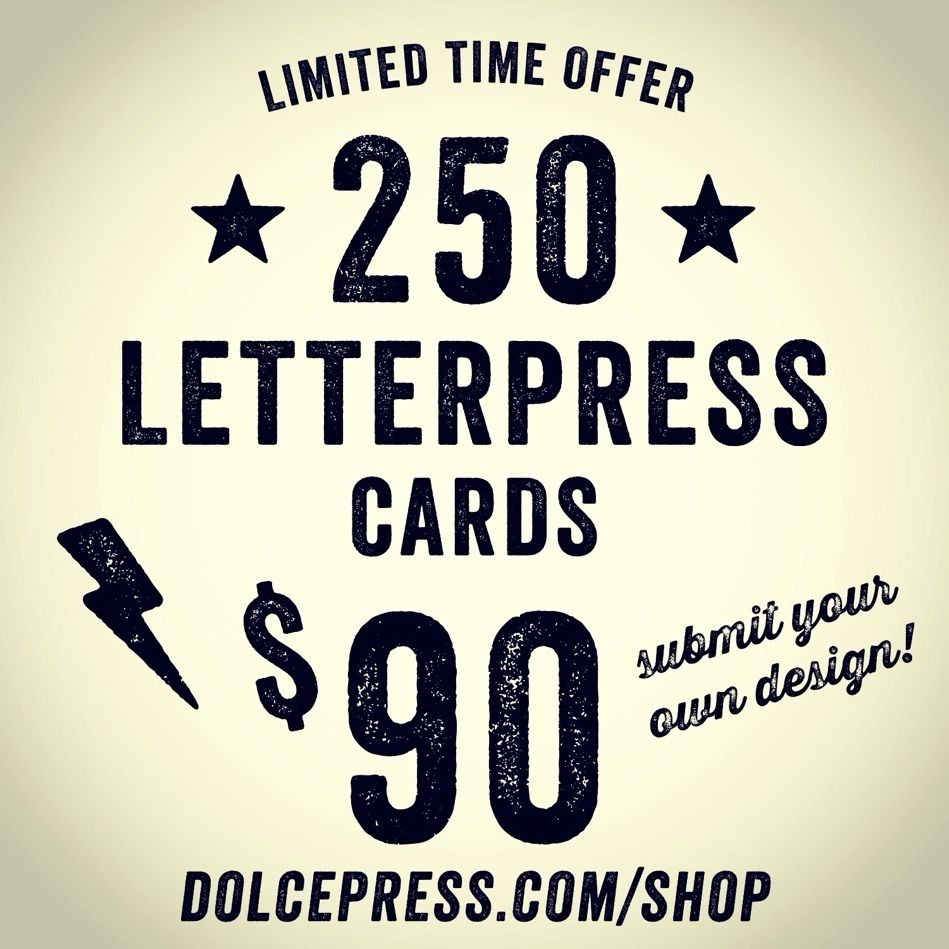 Kickass letterpress business card sale available for a limited kickass letterpress business card sale available for a limited time dolcepress reheart Images