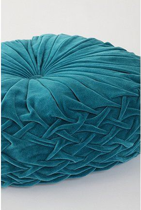 Round Pintuck Floor Pillow Pillows Teal And Turquoise