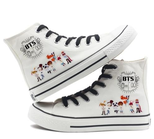 6e6275a51adc Bangtan Boys Bts BTS Shoes BTS White High Top BTS Custom