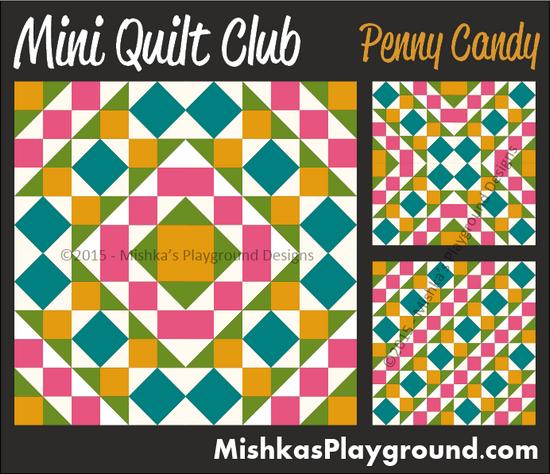Mini Quilt Club – Pieced Designs | Mishka's Playground