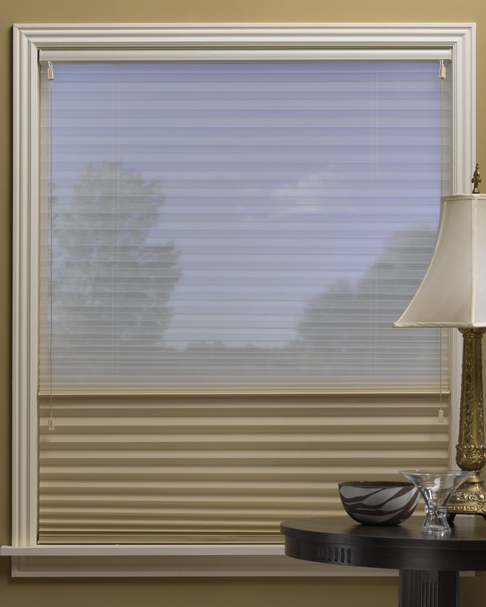 The Duette Duolite Allows For The Top Down Bottom Up Feature And Includes A Semi Sheer Fabric When Down Honeycomb Shades Honeycomb Blinds Shades Blinds