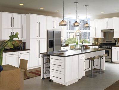 Best White Flat Panel Kitchen Cabinets Google Search 400 x 300
