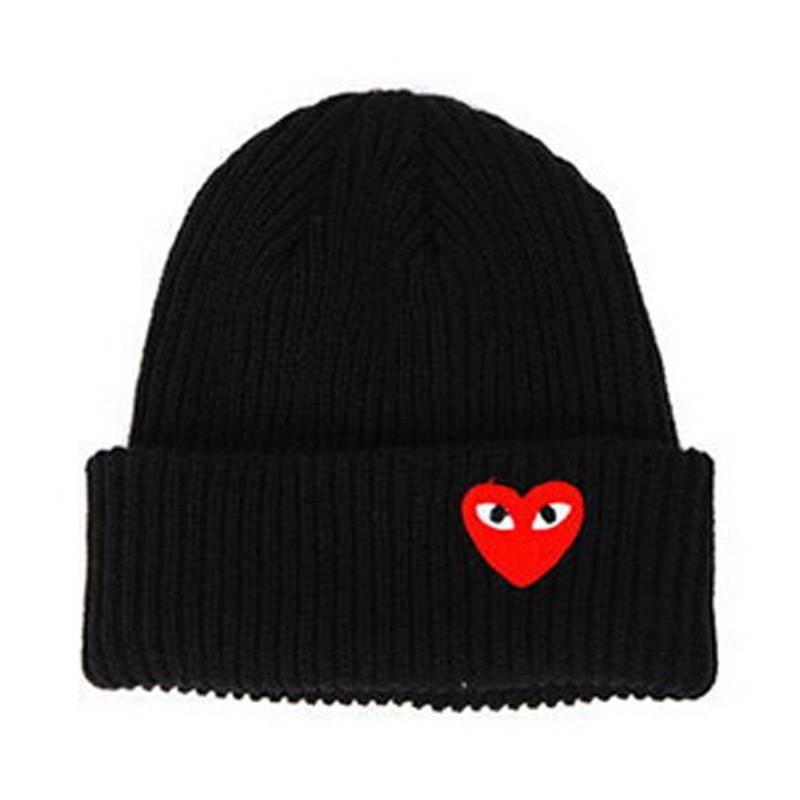 Red Heart Face Man Winter Warm Thick Knitted Heart Shaped Beanie Casua – JAKKOU††HEBXX #beanies