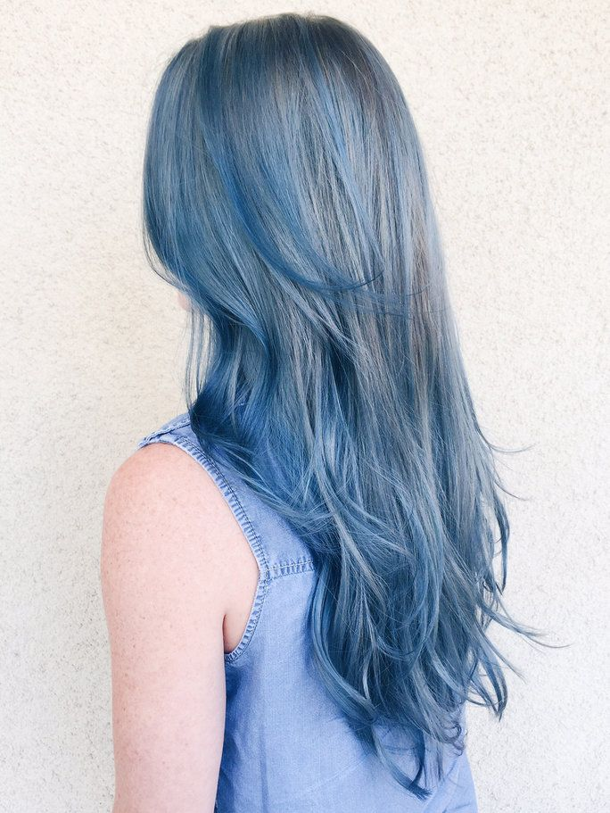 Were Kind Of Obsessed With The New Denim Hair Color Trend Hair