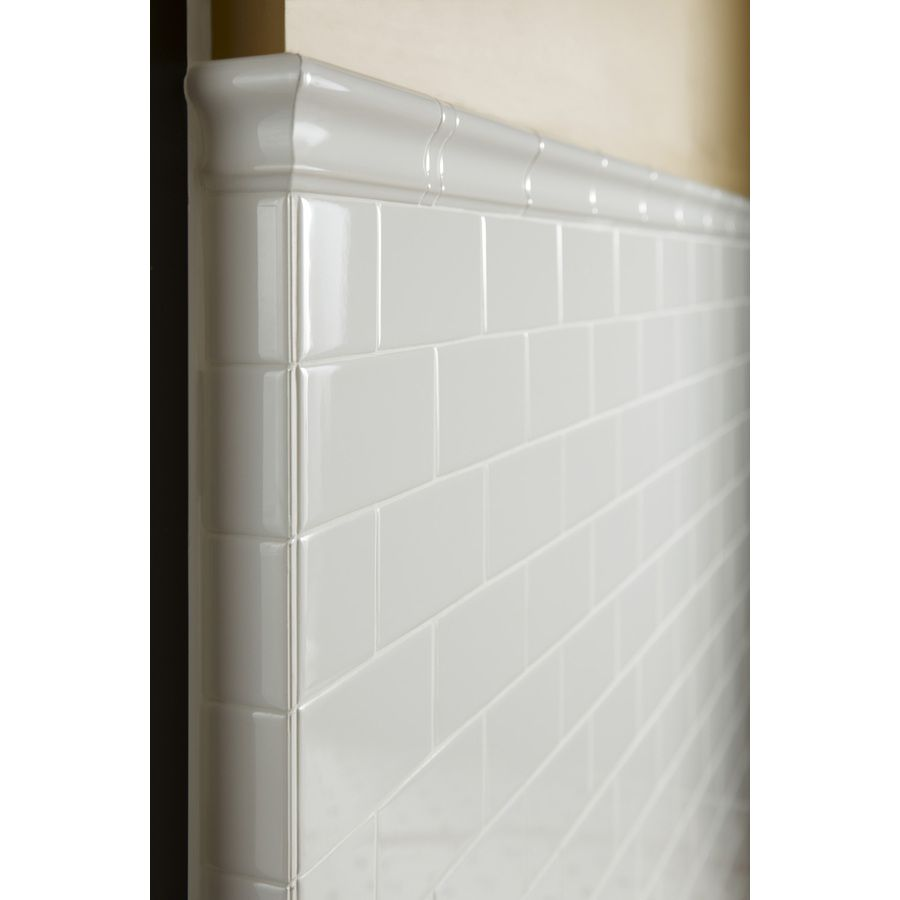 Shop American Olean Starting Line White Gloss Ceramic Chair Rail Tile (Common: 2-in x 6-in; Actual: 2-in x 6-in) at Lowes.com