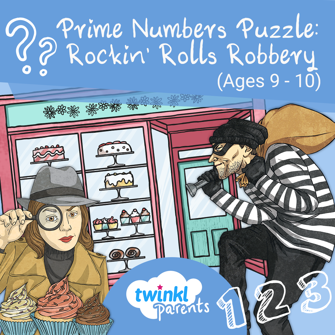 Prime Numbers Puzzle Rockin' Rolls Robbery (Ages 9 10