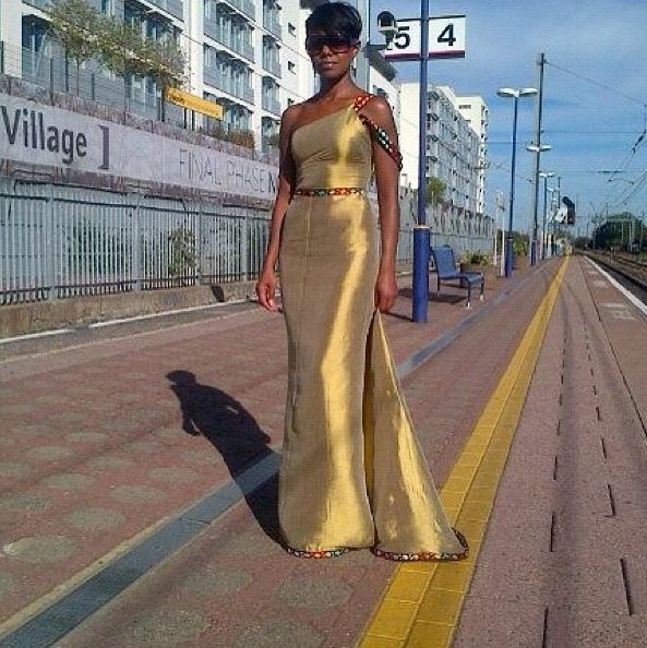 Gold Tilet habesha dress by Rahwa Designs! Abesha Bride