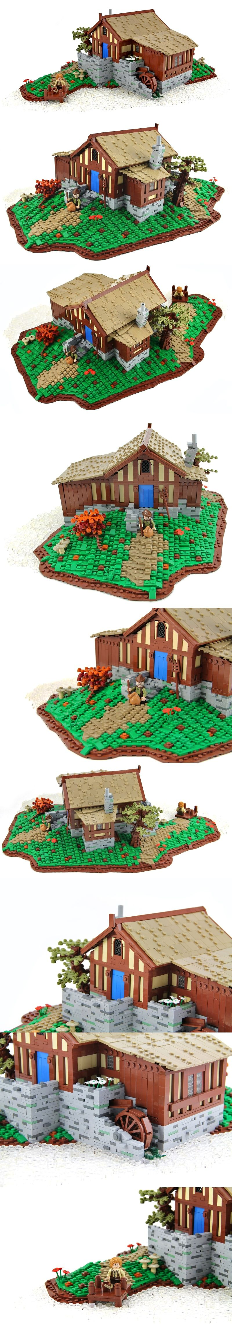 Small Mill Of Ted Sandyman in Hobbiton From Lord Of The Ring #LOTR #Hobbit #LEGO