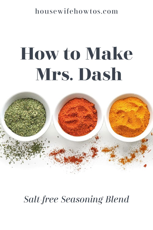 Recipe Mrs Dash