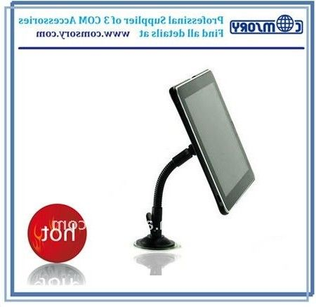2011 Hot Plastic windheild car mount for Ipad car stand for iPad1 flexible goose neck sunction base