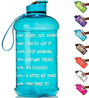 Amazon Com Hydromate Half Gallon Motivational Water Bottle With Time Marker Large Bpa Free Jug With Leak Proof Bottle Motivational Water Bottle Water Bottle