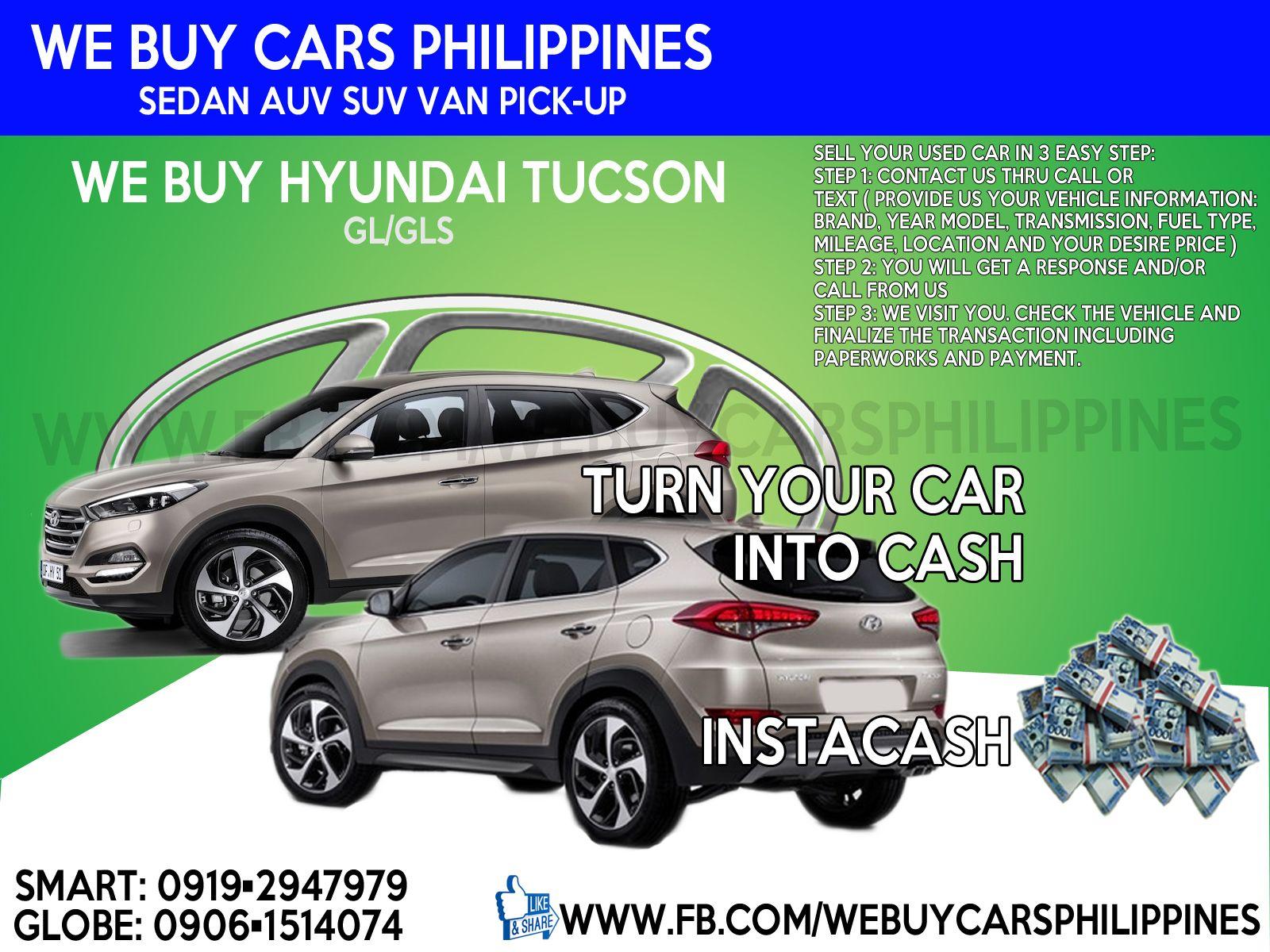 WE BUY USED HYUNDAI TUCSON PHILIPPINES TUCSON GL 6MT FWD FL TUCSON ...