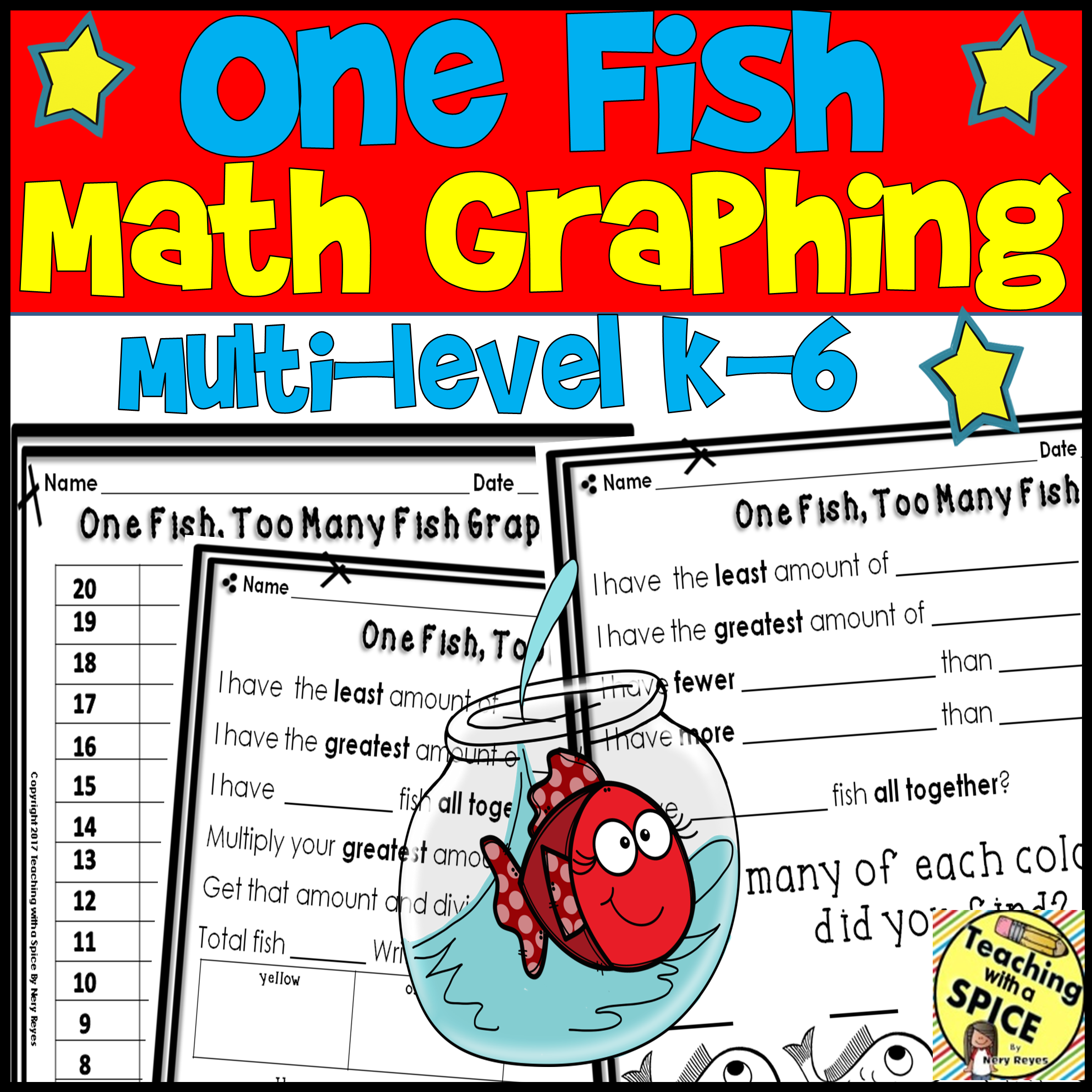Rhyme Time Week Graphing Fish Math