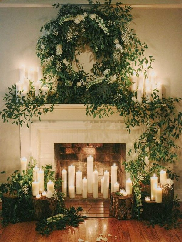 Provincial inspired fireplace wedding ceremony backdrop brides provincial inspired fireplace wedding ceremony backdrop brides of adelaide junglespirit Image collections