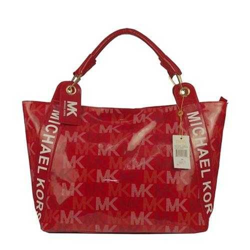 Michael Kors Logo Large Red Totes Outlet - $74.99