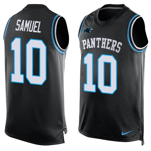 c10b9a447 Nike Panthers  10 Curtis Samuel Black Team Color Men s Stitched NFL Limited  Tank Top Jersey And  Ravens Terrell Suggs jersey