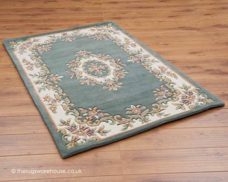 Royal Green Rug Aubusson Wool Rug Free Delivery Uk Green Rug Rugs Royal Green