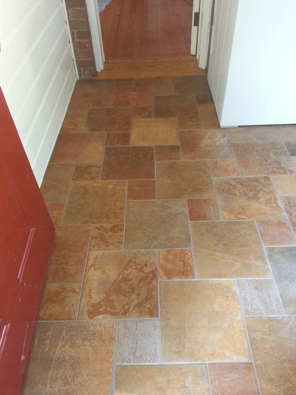 Modular Tile In An Entry 6x6 12x12 Tile Flooring Pinterest