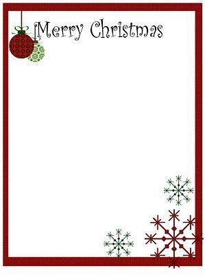 Printable Christmas Stationery To Use For The Holidays  Holidays
