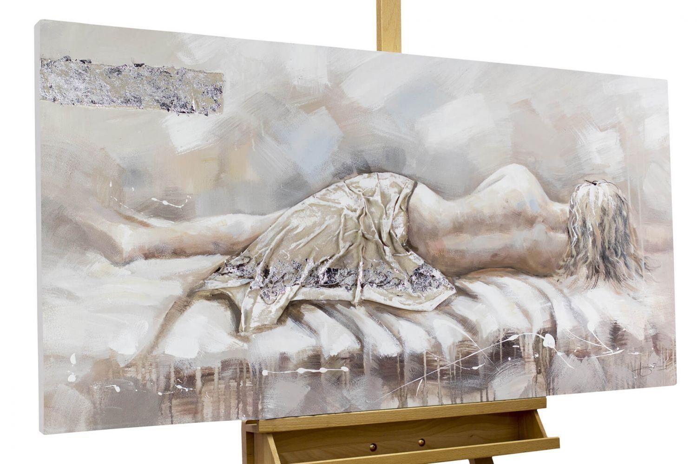 Handgemalte Bilder Auf Leinwand amazon de kunstloft acryl gemälde ohne dich 120x60cm original