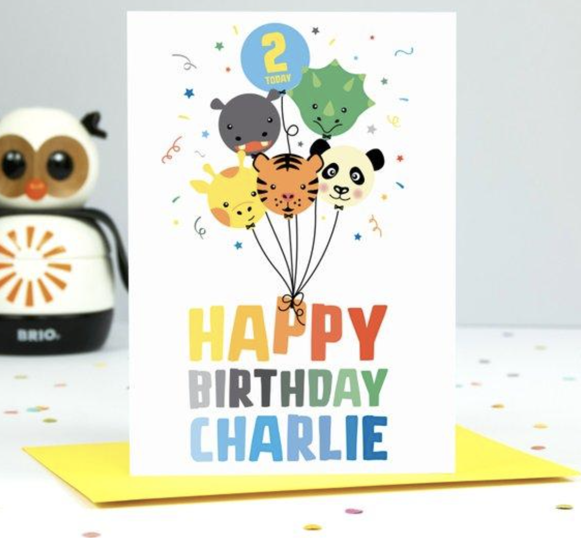 Categories Personalized Birthday Cards Birthday Cards For Boys Its A Boy Balloons