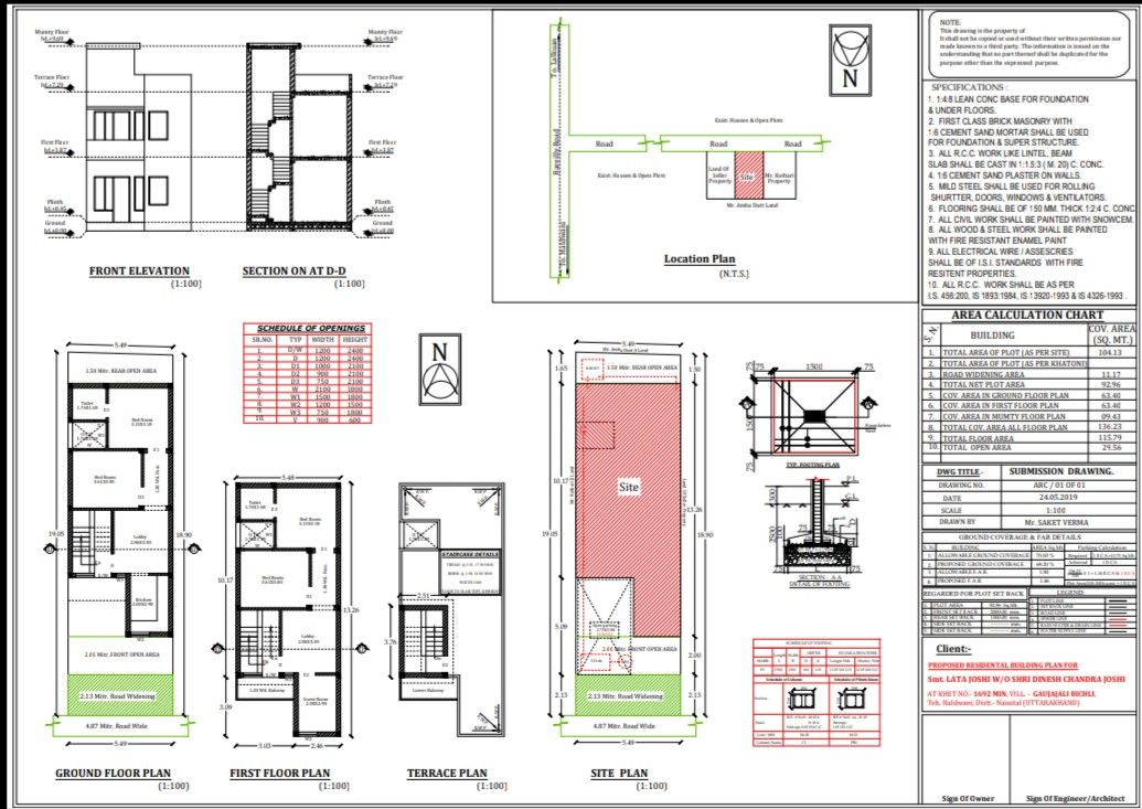 According To Norms Approval File In Haldwani City Narrow Lot House House Plans Floor Plans