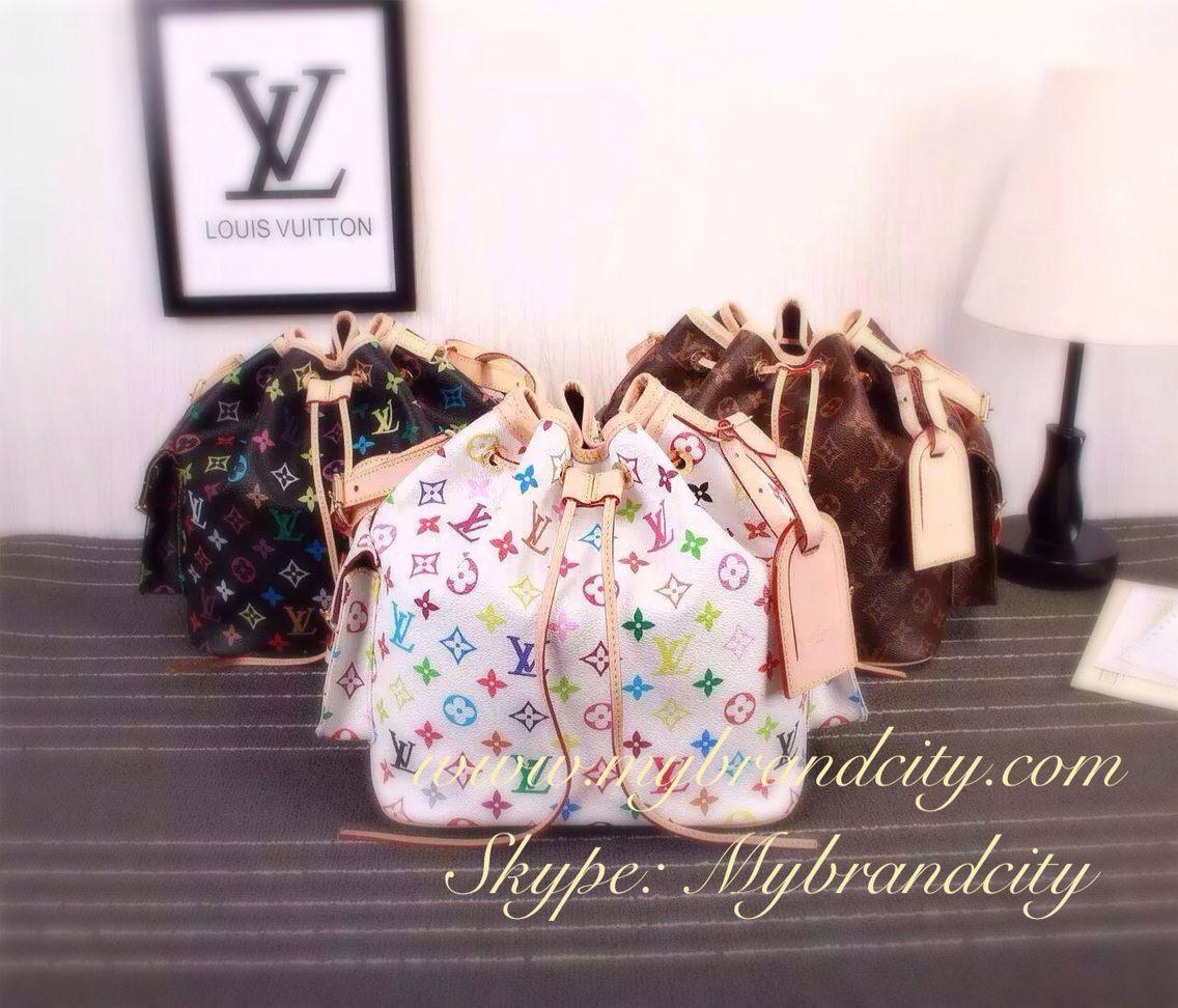 Louis Vuitton bucket bag, petit noe bb, multicolor ...