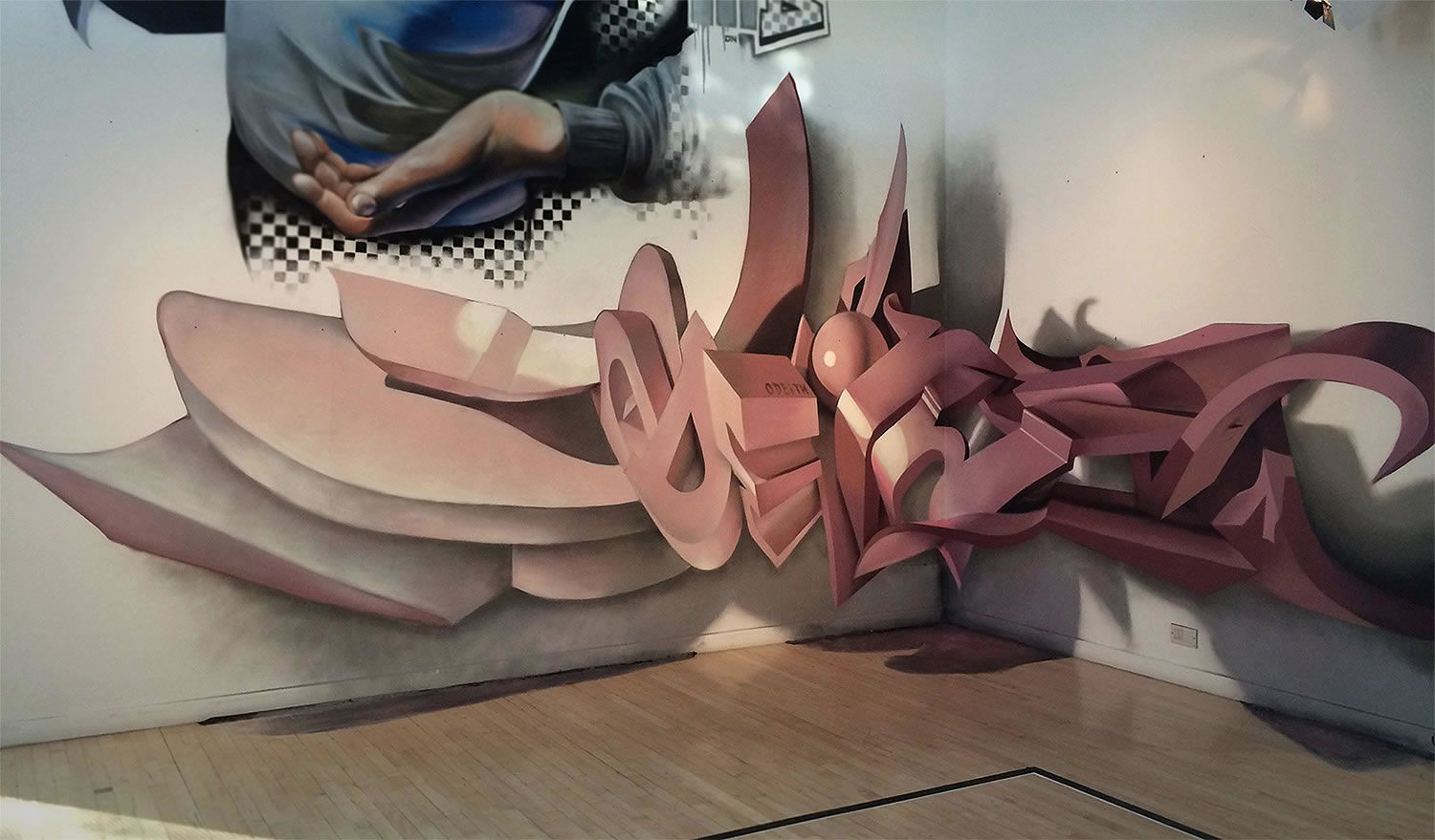 Insanely Good 3D Graffiti by Odeith | 3d letters, Graffiti and 3d for Street Wall Art Illusions  257ylc