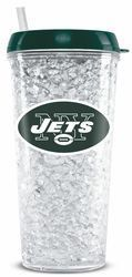 New York Jets Crystal Freezer Tumbler