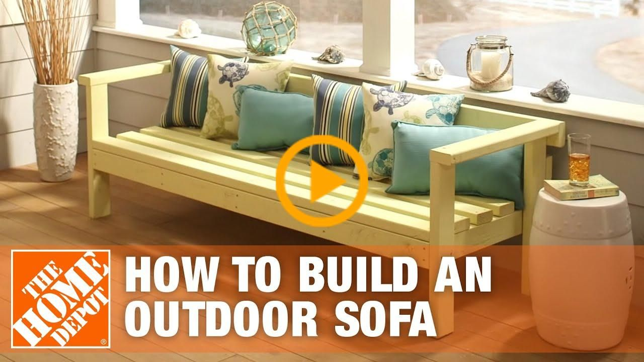 Diy Patio Furniture Outdoor Sofa The Home Depot Depot Diy Furniture Home Outdoor Patio Sofa Ways To Deco In 2020 Diy Patio Furniture Outdoor Sofa Patio Couch