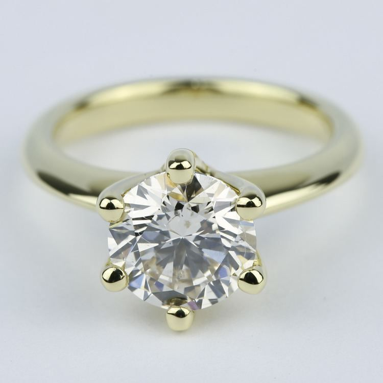Classic Engagement Ring with M Color Diamond (2 Carat) Recently