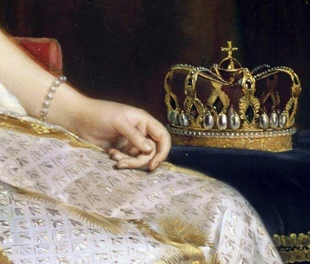 """François Gérard, """"Joséphine in coronation costume"""" (detail)"""