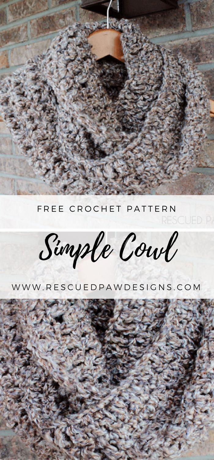 Simple crochet cowl simple crochet free crochet and crochet easy crochet patterns bankloansurffo Images