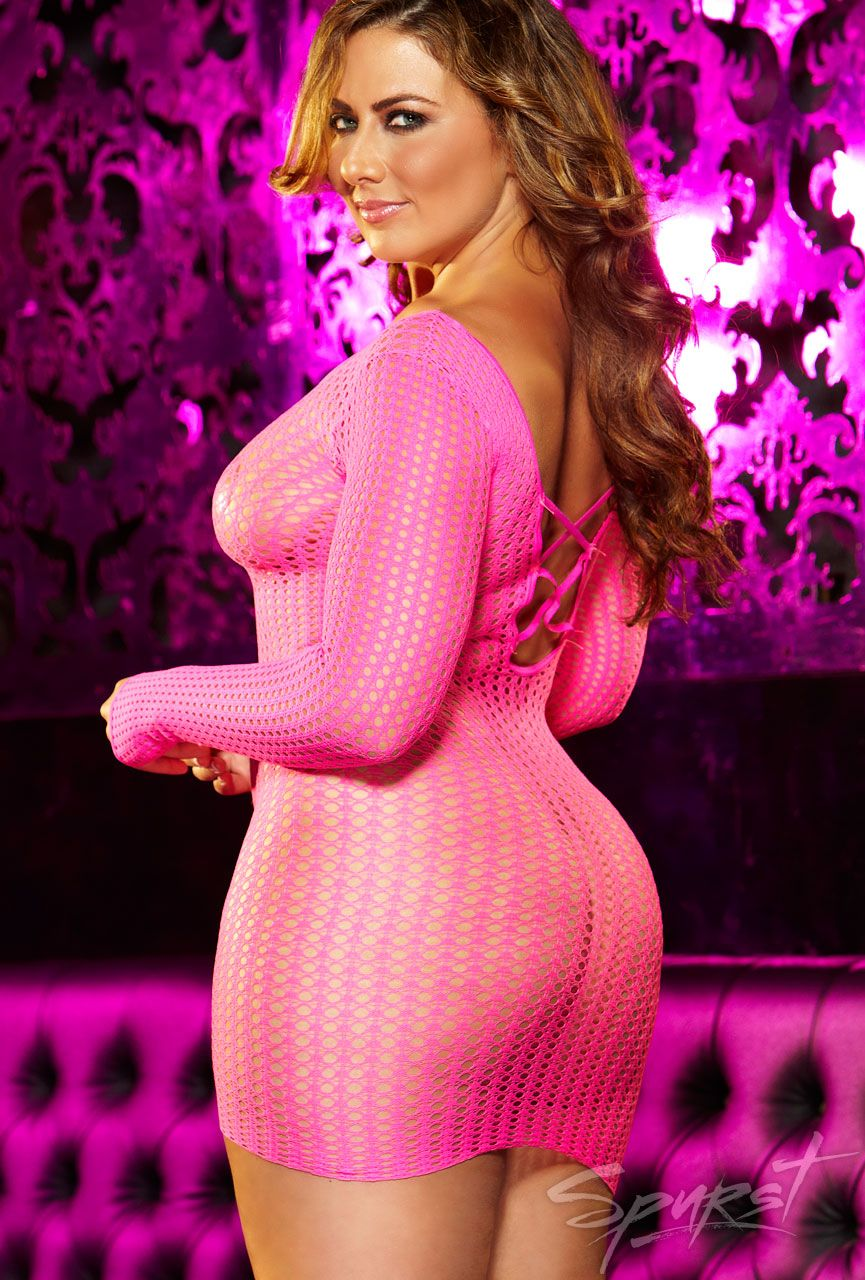 Center Stage Mini Dress - Plus | Plus Size Lingerie | Spurst ...