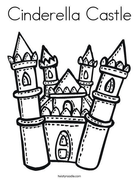 Cinderella Castle Coloring Page Twisty Noodle Cinderella Coloring Pages Castle Coloring Page Disney Princess Coloring Pages