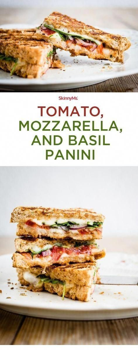MOZZARELLA, AND BASIL PANINI - I'm all about grilled cheese! There's something so satisfying about the way that crispy bread combines with melted cheese. ~** CLICK TO SEE FULL RECIPES **~ | Healthy | Healthy Recipes | Healthy Recipes Easy | Healthy Recipes Healthy | Healthy Breakfast | Healthy Snacks | Healthy Dinner | Health...