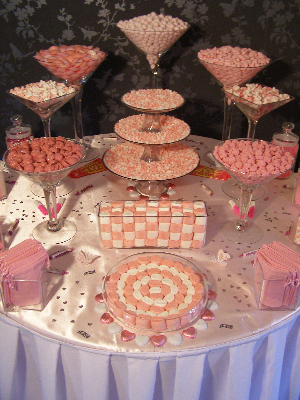 Pink And White Sweet Table Buffet Di Dolci Bomboniere Italiane Tavoli Dolci
