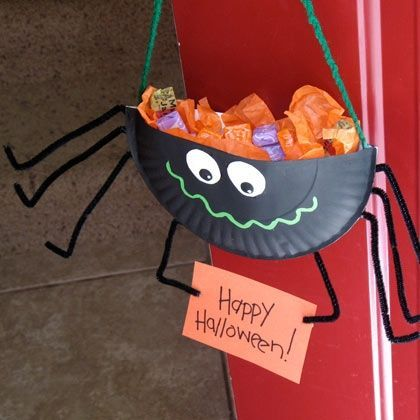 Halloween Crafts for Kids - The Girl Creative #halloweencraftforkids - how to make halloween decorations for kids