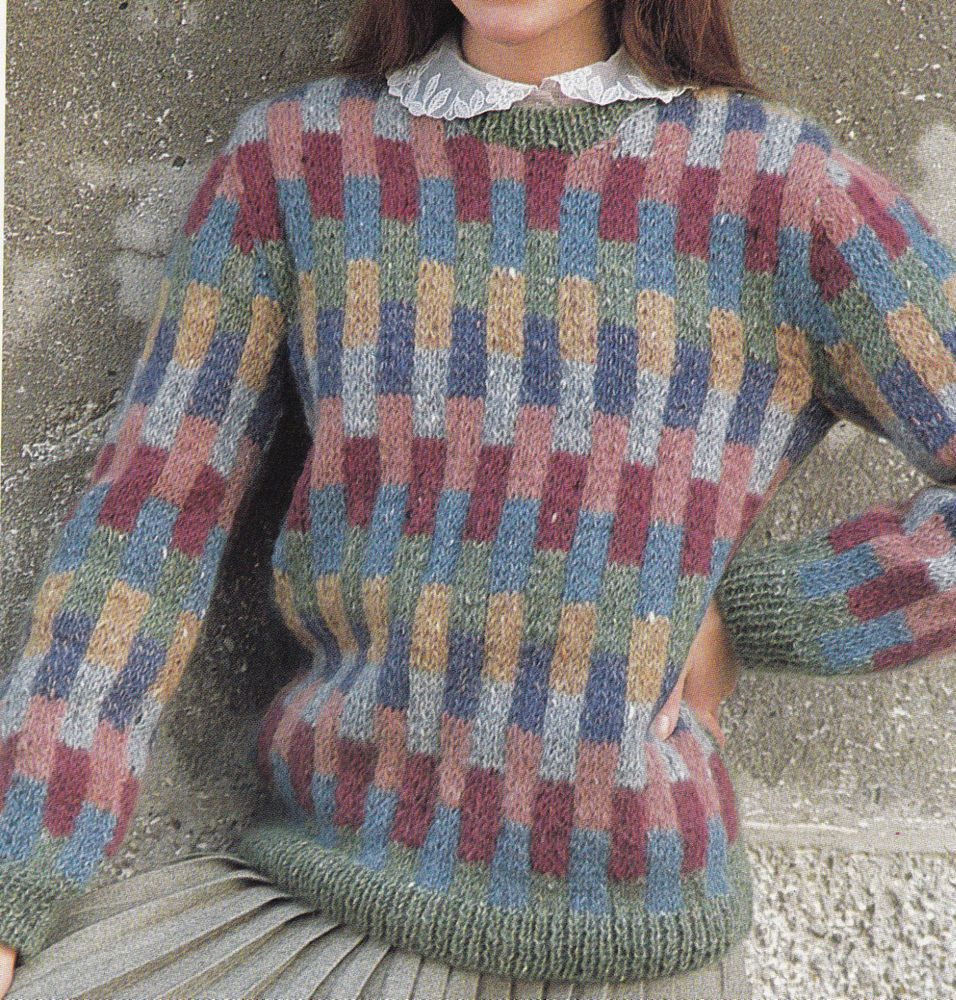 Vintage Knitting Pattern Instructions to Make a Ladies Jumper in ...